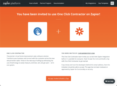 One Click Contractor and Zapier Integration