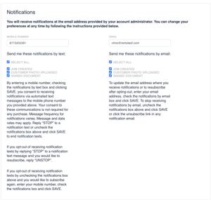 User Notifications